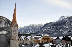 Inverno di Snowy in montagna Austria Fotografia Stock
