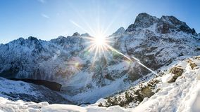 Inverno di stupore in montagne di Tatra fotografia stock