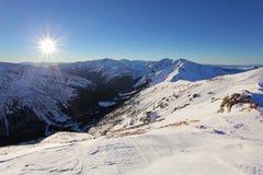 Inverno di Tatras in Polonia Fotografie Stock Libere da Diritti