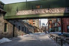 Inverno di Toronto del distretto della distilleria immagine stock