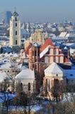 Inverno di Vilnius Fotografia Stock Libera da Diritti