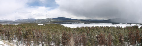 Inverno a Dillon Lake Colorado Immagine Stock