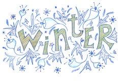 Inverno - disegno a matita Immagine Stock