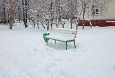 inverno do banco Imagem de Stock Royalty Free