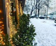 inverno do café imagem de stock royalty free