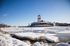 inverno do castelo de Vyborg fotografia de stock