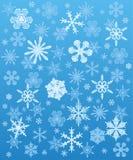 Inverno do fundo dos flocos de neve Imagens de Stock