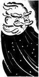 Inverno do homem idoso ilustração stock