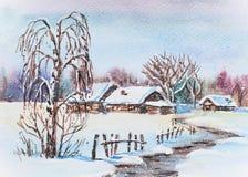 Inverno do russo Fotografia de Stock