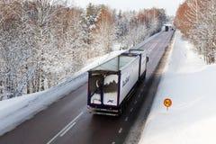 inverno do tráfego rodoviário Imagens de Stock