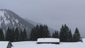 Inverno duro in alpi con molta neve Fotografia Stock