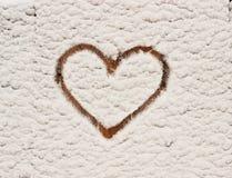 inverno e coração Foto de Stock Royalty Free