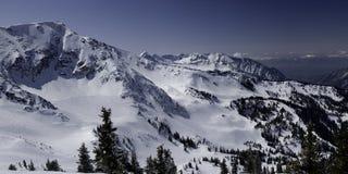 Inverno e montagne dell'Utah fotografia stock