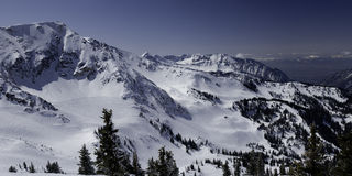 inverno e montanhas de Utá Foto de Stock