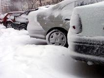 Inverno e trasporto Fotografie Stock