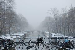 Inverno em Amsterdão Fotos de Stock