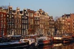 Inverno em Amsterdão imagem de stock