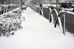 Inverno em Bucareste Imagem de Stock