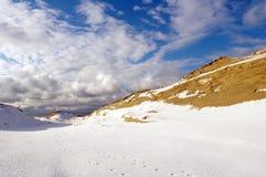 Inverno em dunas inoperantes Imagens de Stock Royalty Free