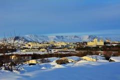 Inverno em Islândia Foto de Stock