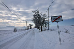 inverno em Médio-montanhas checas Foto de Stock