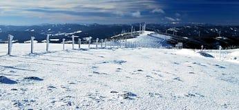 inverno em montanhas de Fischbacher Alpen em Styria Imagens de Stock Royalty Free