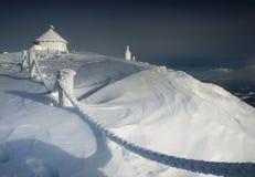 inverno em montanhas de Karkonosze fotografia de stock royalty free
