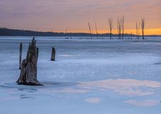 inverno em New-jersey fotografia de stock