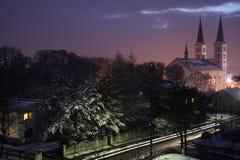 Inverno em a noite Foto de Stock Royalty Free