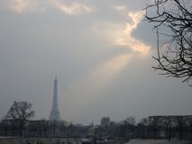 Inverno em Paris imagens de stock royalty free