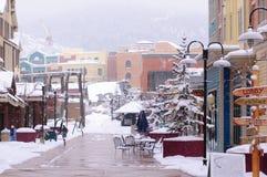 Inverno em Park City Utá Fotografia de Stock Royalty Free