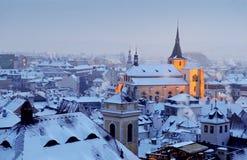 Inverno em Praga Foto de Stock Royalty Free