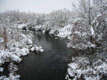 inverno em Puebla de Sanabria, Castilla y Leon, Espanha foto de stock