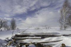 Inverno em Rússia Fotos de Stock Royalty Free