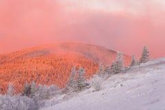 inverno em Ridge Mountains azul 4 imagem de stock