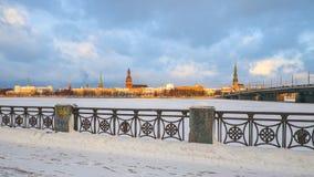 Inverno em Riga Fotos de Stock