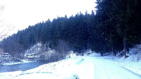 inverno em Romênia 2 Fotografia de Stock