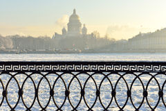 inverno em St Petersburg, Rússia fotografia de stock