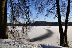 inverno em um parque Foto de Stock Royalty Free
