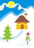 Inverno engraçado ilustração royalty free