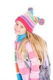 inverno: Estudante bonito Dressed For Winter imagem de stock royalty free