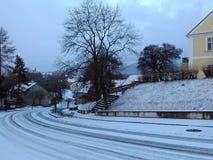 Inverno in Europa Fotografia Stock