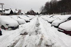 Inverno in Europa Germania Saarland Immagine Stock Libera da Diritti