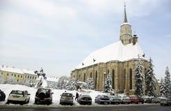 Inverno extremo em Romania Foto de Stock