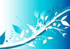 Inverno floral ilustração do vetor
