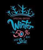 Inverno 50% fora da venda Imagens de Stock