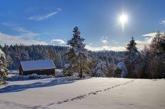Inverno in Francia Fotografia Stock