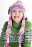 Inverno fresco di divertimento teenager Fotografie Stock Libere da Diritti