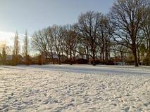 inverno frio na cidade pequena Foto de Stock Royalty Free