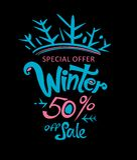 Inverno 50% fuori dalla vendita Immagini Stock